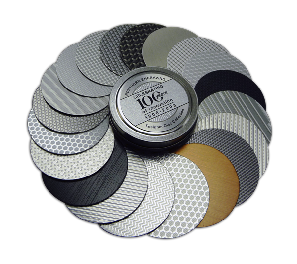 Designer Disc Collection provides aluminum finishes for inspiration