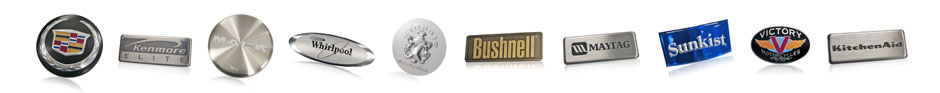 Engine Cover Badges, Motorcycle Tank Badges, Appliance Trim