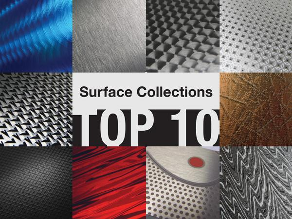 Surface Collections Top 10, aluminum finishes