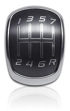 Brushed Gun Metal Gear Knob aluminum trim