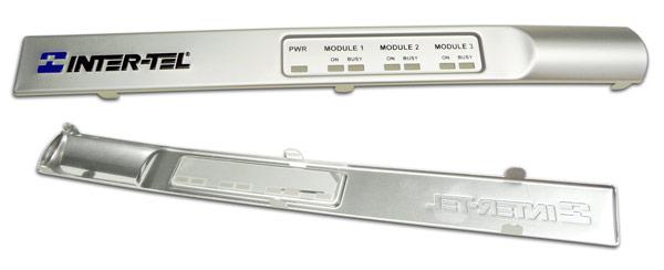 embossed aluminum trim with tabs