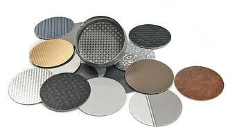 Pattern on aluminum, Nameplate Customization, Label Finish