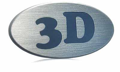 3 D oval