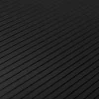 black pinstripe finish