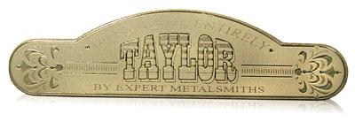 gold tone nameplate