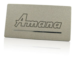 metallic inks nameplate | Amana
