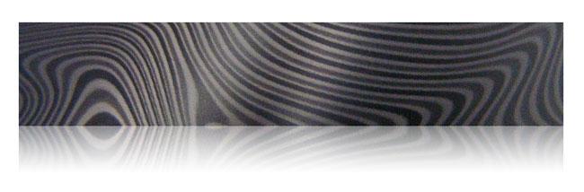 anodized black damascus steel aluminum finish