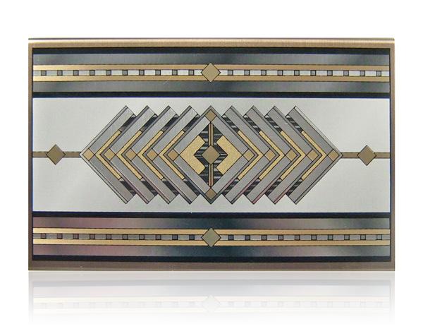 aluminum matchbox art deco