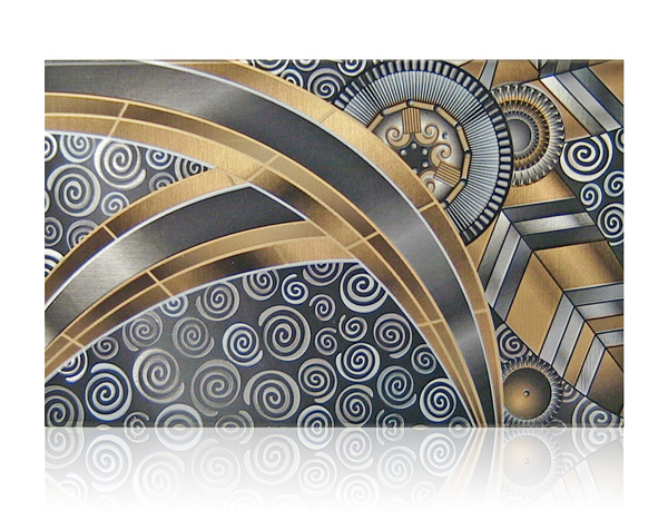 art deco matchbox aluminum