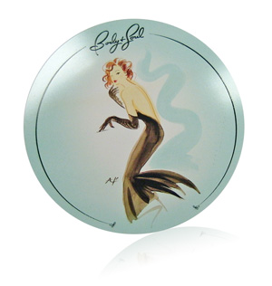Body and Soul cosmetic compact insert printed graphics on aluminum