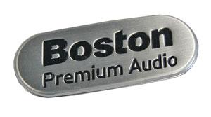 Boston audio nameplate