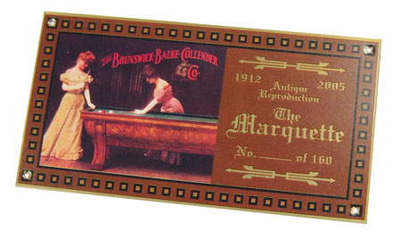 brass Brunswick nameplate