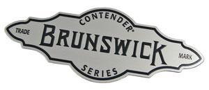 Brunswick metal nameplate