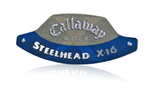 callaway steelhead x-16 club nameplate