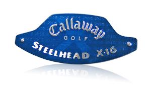 callaway x-16 blue nameplate
