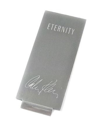 Calvin Klein Eternity aluminum nameplate