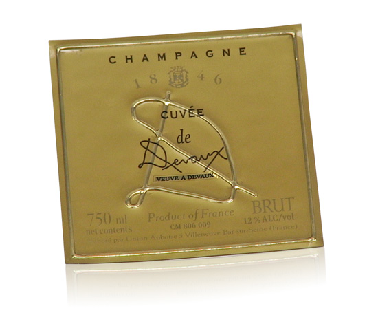 polycarbonate champagne label