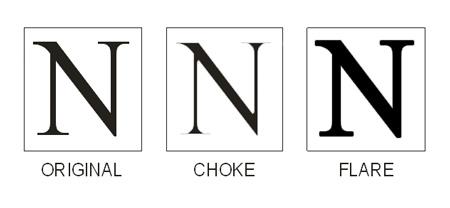 choke & flare printing