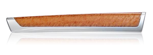 chrysler pacifica interior trim | door rail - eucalyptus woodgrain on aluminum