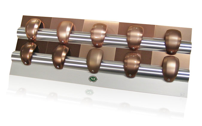 copper aluminum finishes gearknobs