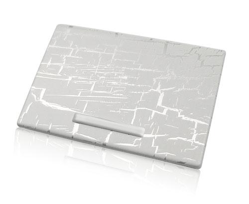crackled and weather aluminum finish