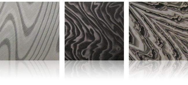 damascus steel aluminum finishes