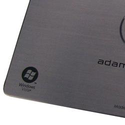 rolled aluminum edge | DELL adamo laptop nameplate