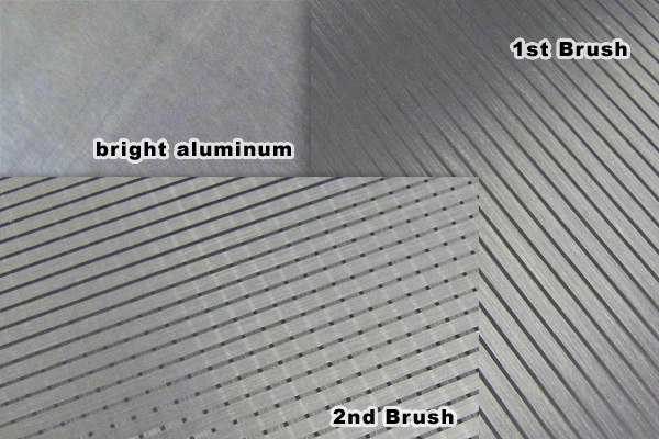 2 direction brushed aluminum pattern process