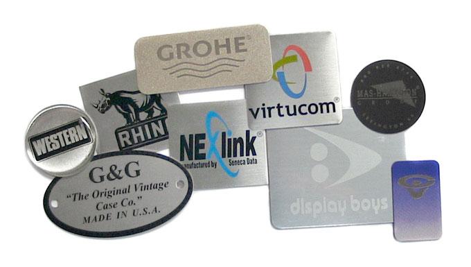 stamped aluminum nameplates