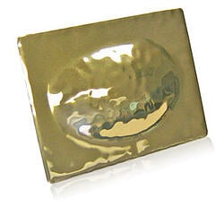 gold hammered metal finish