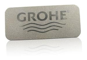 metallic inks nameplate | GROHE