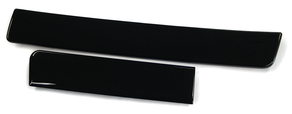 piano black aluminum trim
