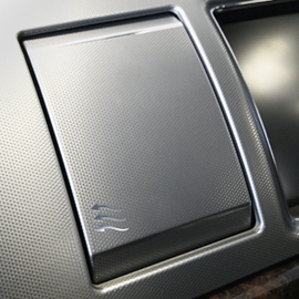 Jaguar XF aluminum vent cover