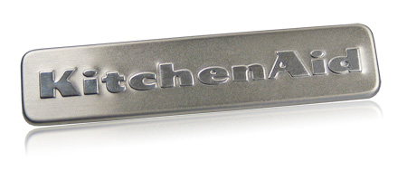 stainless steel nameplate   KitchenAid