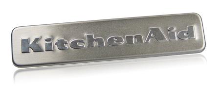 stainless steel nameplate | KitchenAid