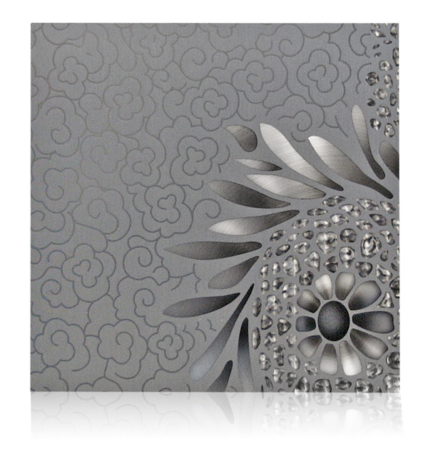 large print aluminum flower