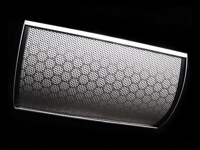 layered honeycomb aluminum finish