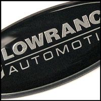 lowrance automotive domed label