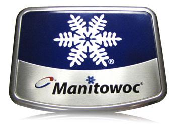 Manitowoc Ice Machine bold color on aluminum nameplate