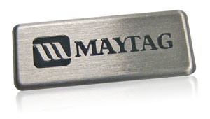 Aluminum Nameplates With A Stainless Steel Look