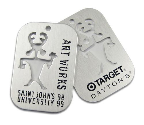 metal hang tags