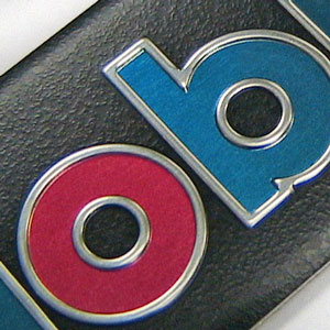 Mobil 1 textured nameplate