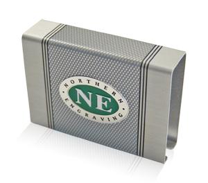 Northern Engraving knurled aluminum finish matchbox