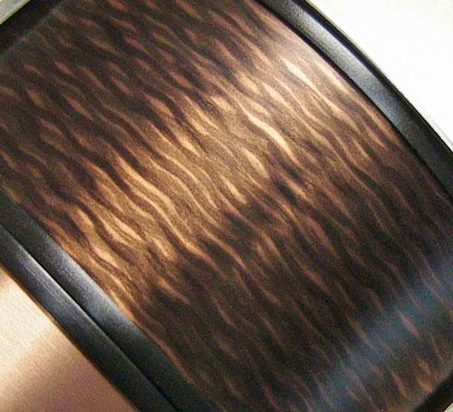 brown organic linear aluminum finish