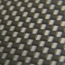 black aluminum carbon fiber finish