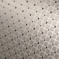 square lattice aluminum finish