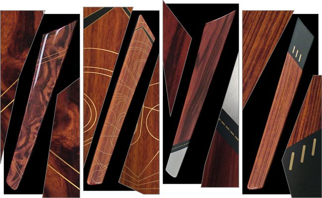 selective inlaid woodgrains