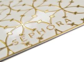 Sephora compact emboss detail