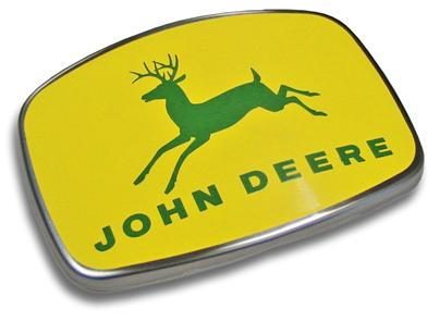 john deere steel badge
