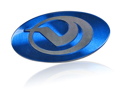 blue V spun logo